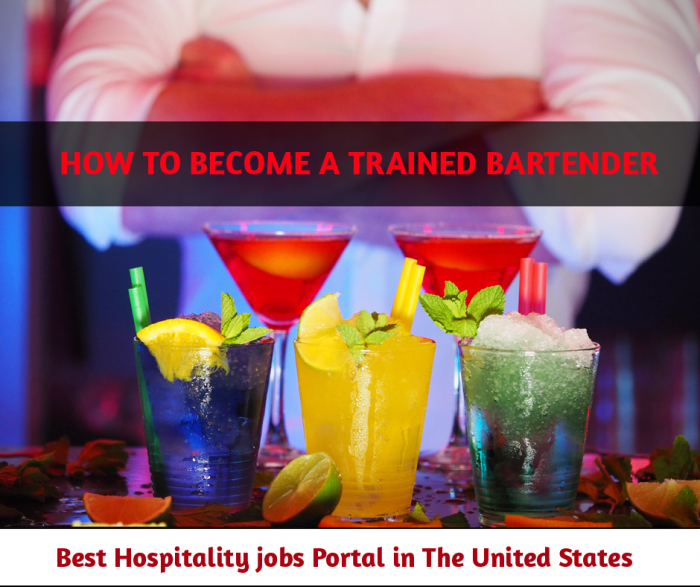 How to Become a Trained Bartender!